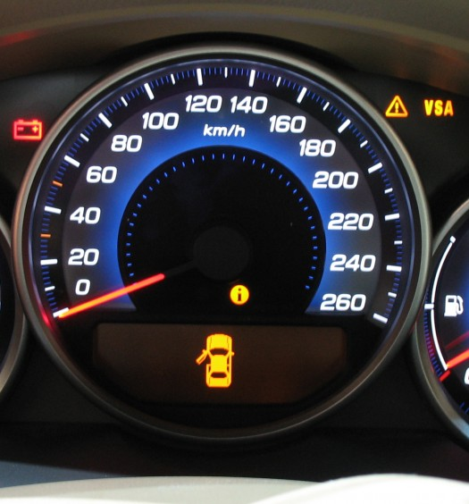 luzes painel do carro